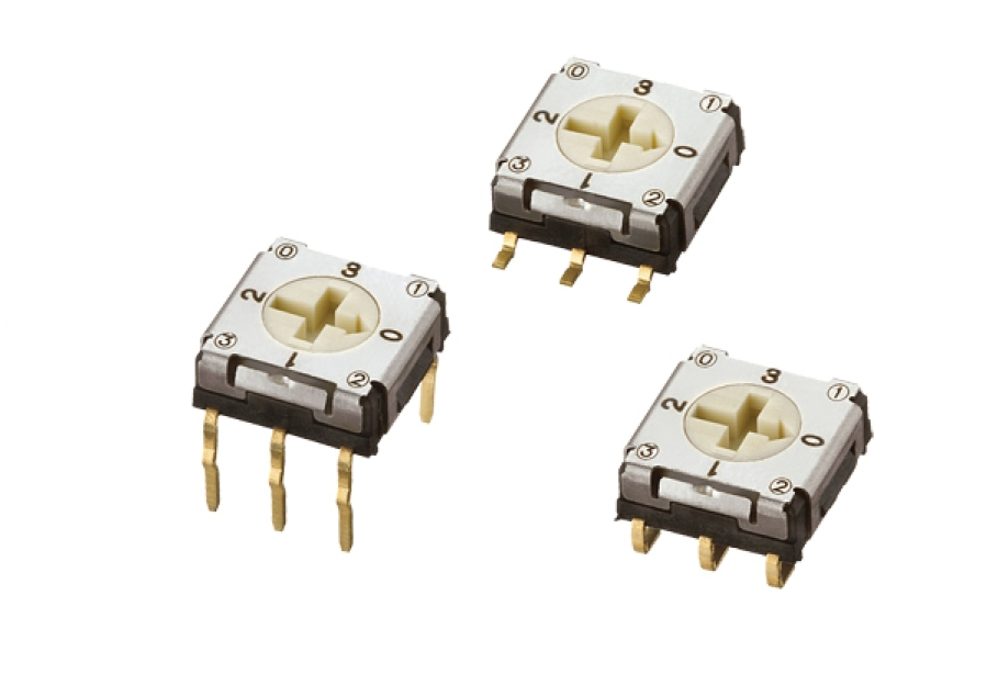 7mm Size Rotary Code Switches with 4 Positions